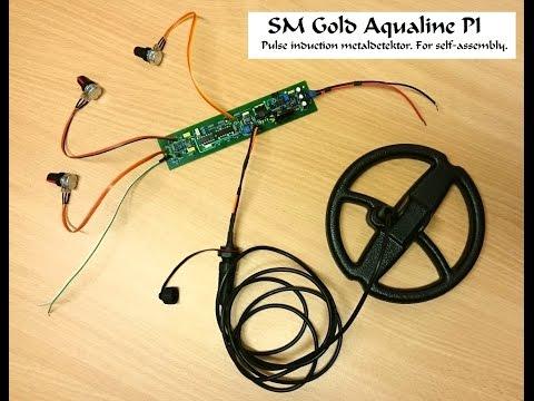 Pulse induction metal detector -SM Gold Aqualine PI -
