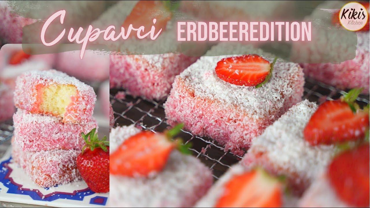 Softe Erdbeer-Kokoswürfel - Cupavci ERDBEER Edition / Kokos-Erdbeer-Dessert mit Taste Test