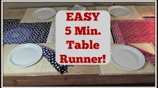 4th Of July Collab: Easy 5 Minute Table Runner!