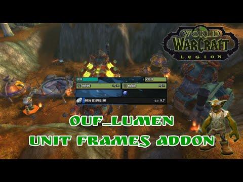 WoW Addon - oUF Lumen (мини юнит фреймы / minimalistic unit frames)