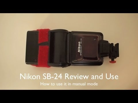 Nikon speedlight sb-24 shoe mount flash w/ manual tested and.