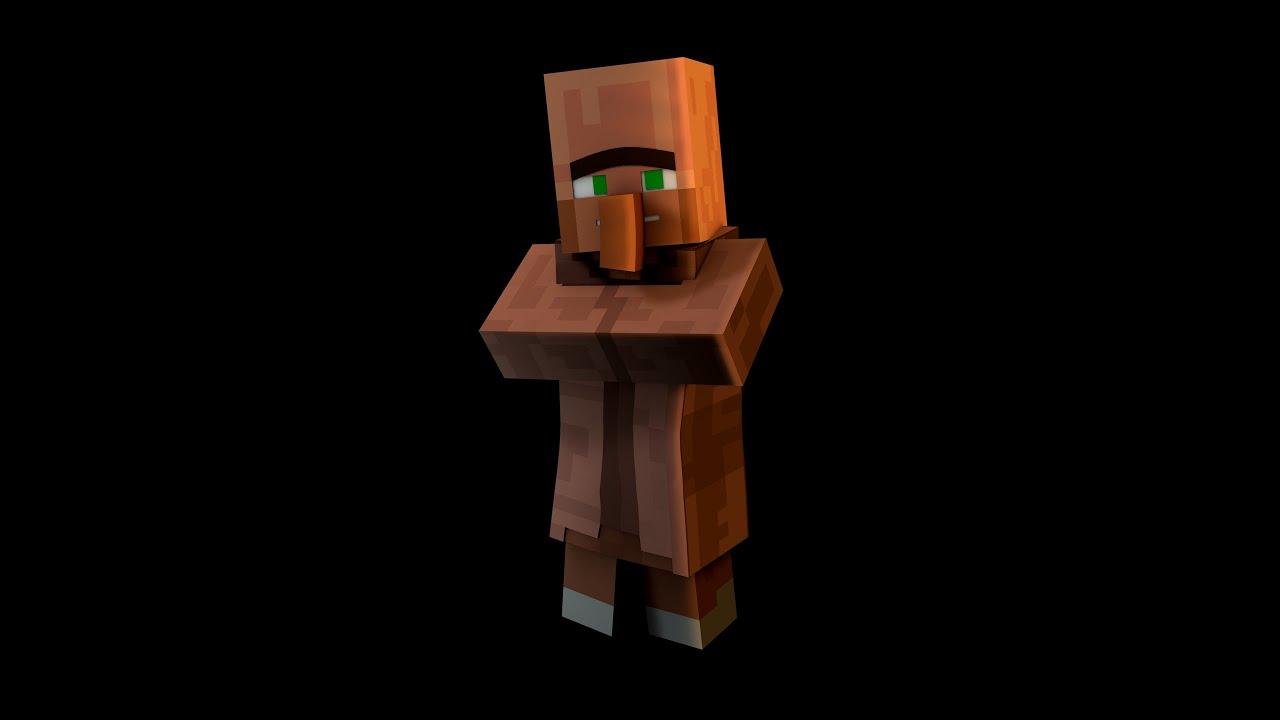 Minecraft Wallpaper Creeper 3d Cinema 4d Minecraft Villager Rig Edit V3 0 Youtube