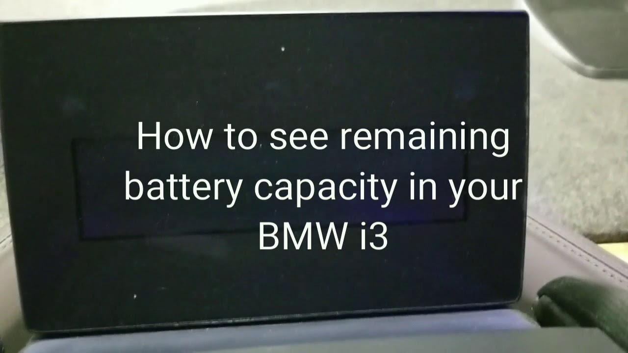 BMW i3 Secret Menu Hack - Battery Capacity