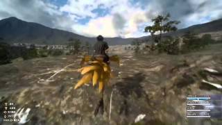 FINAL FANTASY XV - Chocobo Riding and Fishing Gameplay Video (1080p)