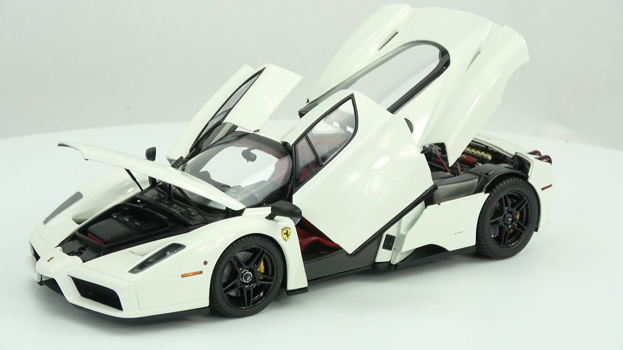 1 18 bbr ferrari enzo white version youtube. Black Bedroom Furniture Sets. Home Design Ideas