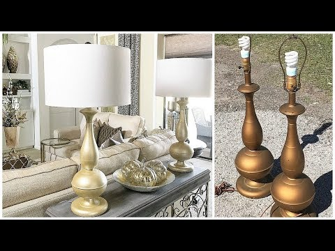 DIY Lamp Makeover | Using NO Spray Paint