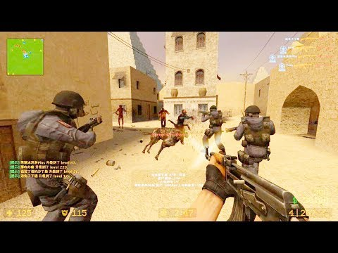 Counter Strike Source - Zombie Riot Mod Online Gameplay On De_pyramid_ukcs Map