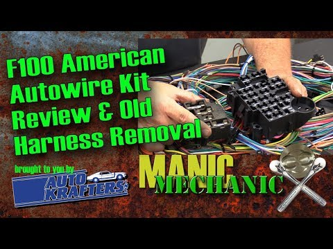 Bumpside F100 1967 1972 Cab Wiring Harness Removal Episode 28 Manic Mechanic