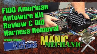 Bumpside F100 1967 1972 Cab Wiring Harness Removal Episode 28 Manic  Mechanic - YouTube | Ford F100 Wiring Harness |  | YouTube