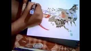 speedman-how to draw maka albarn