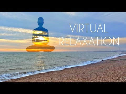 4K 360º Virtual Relaxation on Beach - LONG VR Video for Meditation