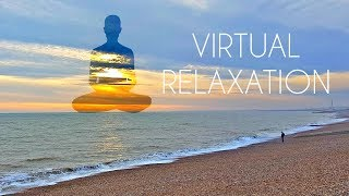 4K 360º Virtual Relaxation On Beach   LONG VR Video For Meditation