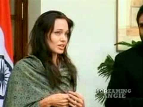 Angelina Jolie in India press conference