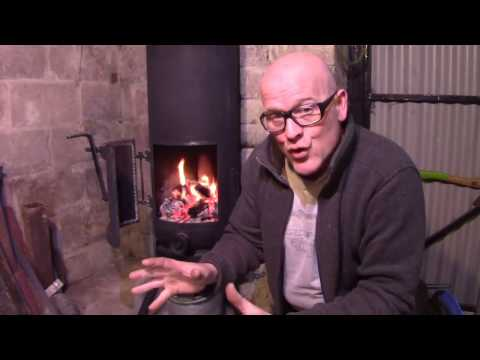 How To Build A Gas Bottle Pot Belly Wood Burner Stove With A Rope Seal Door With A Charcoal  Forge F