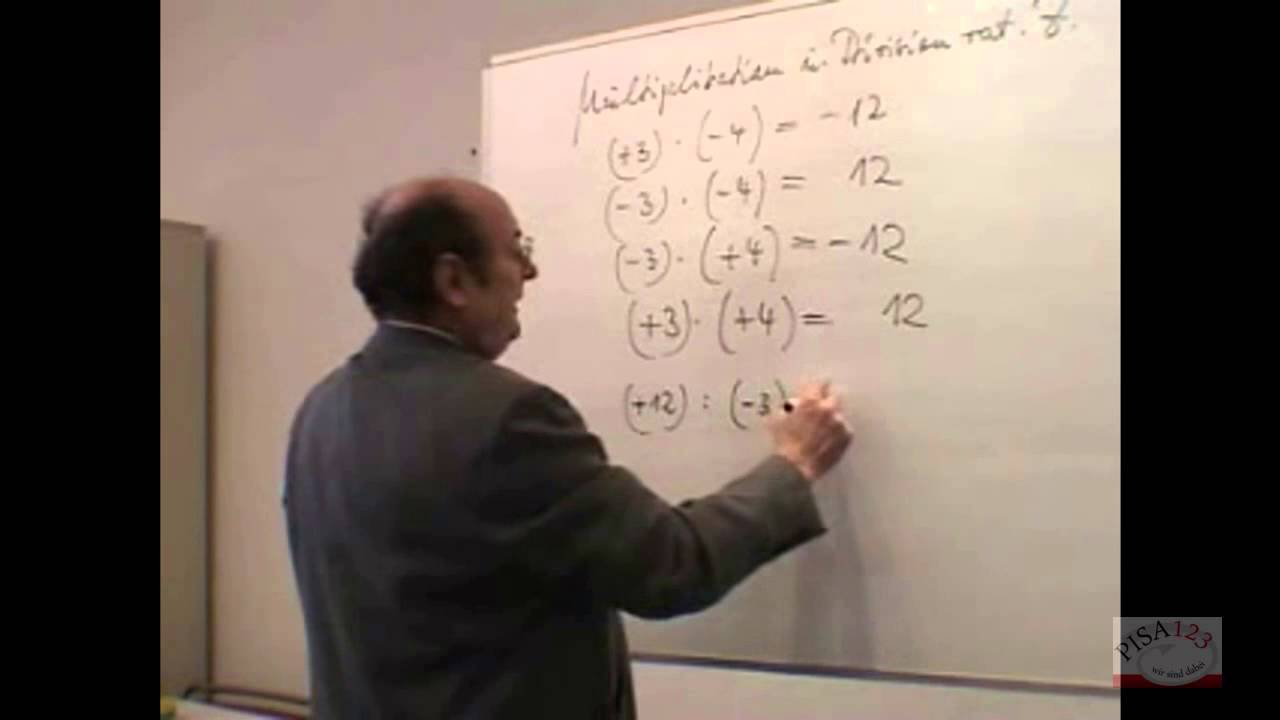 722 - Rationale Zahlen - Multiplikation und Division - YouTube