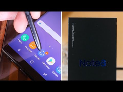 Samsung Galaxy Note 8 Unboxing and First Impressions