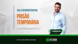 Prisão Temporária - Peças Práticas - Delegado de Polícia - Professor Sérgio Bautzer