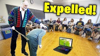 Kid gets CAUGHT playing fortnite at school.. (BIG MISTAKE)
