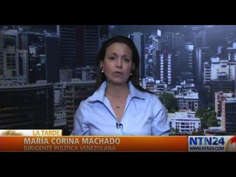 """""""En Venezuela no hay una dictadura sino un Estado criminal"""": María Corina Machado"""
