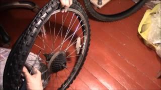 Как поменять камеру и покрышку заднего колеса 26 дюймов в велосипеде Stels Navigator 550(, 2015-08-02T15:57:37.000Z)