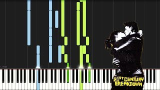21 Guns - Green day Piano - Synthesia (Sheets+Midi Download)