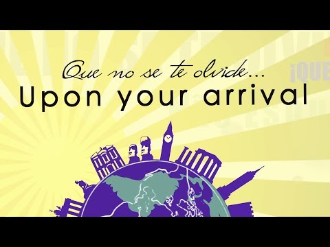 4/4 Don't forget - Upon your arrival - International Center of the University of Seville