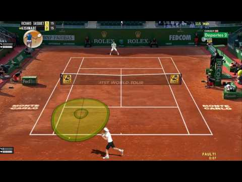 [Tennis Elbow 2013] R. Federer V. R. Gasquet Online Match,  Can't hit through him. ITST 1.18