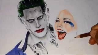 israel lima desenhando - drawing- curinga e Harley Quin
