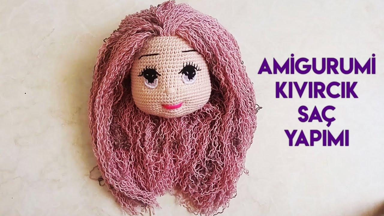 #AmigurumiCurlyHair  #amigurumisaçyapımı  Kıvırcık saç yapımı