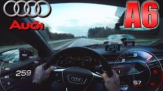 0-250km/h | Audi A6 50 TDI | POV- Acceleration and Top speed TEST ✔