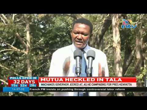 Alfred Mutua jeered at in Tala market
