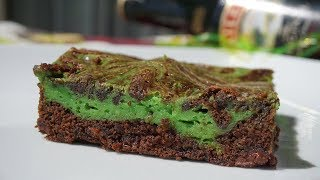 Easy Irish Cream Swirl Brownie Recipe St. Patrick&#39s Day Dessert