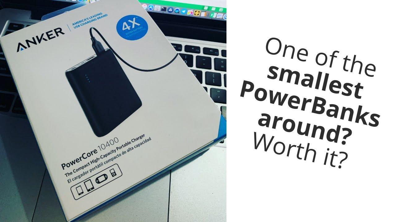 Anker Powerbank PowerCore 10400maH | One of the smallest powerbanks around