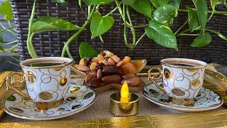 احلى فنجان قهوة على انغام موسيقى فيروز 😍