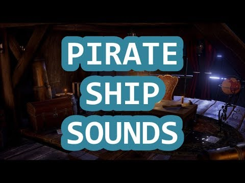 Wooden Pirate Ship Sound, Captain's Cabin - Sleep  Relaxing  Meditation   1 Hour