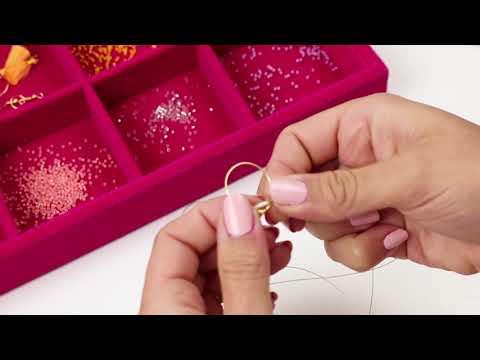 Bijoux à faire soi-même : Boucles d'oreilles en perles Miyuki + fil Artistic Wire ♡ DIY