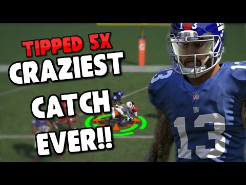 REDICULOUS TOUCHDOWN PASS GETS TIPPED HOW MANY TIMES!!?? Madden 17 Gauntlet