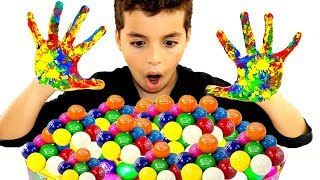 Johny Johny Yes Papa   Sami Pretend Play Wash Your Hands Before Eating Gumballs Kids Song