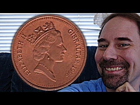 Gibraltar 1 Penny 1996 Coin