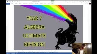 Year 7 - Algebra Test Revision