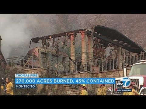 Thomas Fire threatens Santa Barbara | ABC7