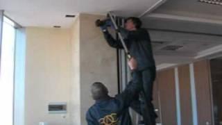 установка камеры видеонаблюдения Axis Q6034(, 2011-02-02T19:13:48.000Z)