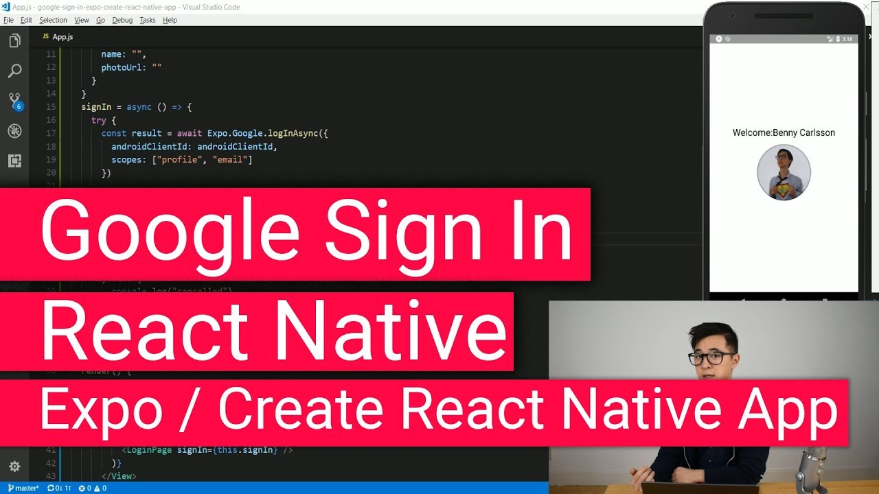 Google Sign In with React Native Expo Create-React-Native-App
