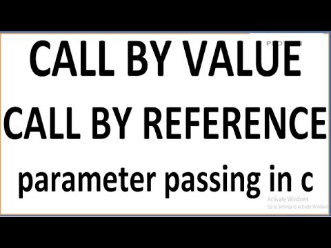 CALL BY VALUE AND CALL BY REFERENCE IN C | PARAMETER PASSING METHODS IN C/C++