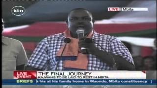Hon. George Aladwa warns those going against Raila Odinga's decisions in ODM Party