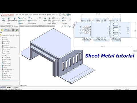 Solidworks Sheet metal tutorial Electrical enclosure