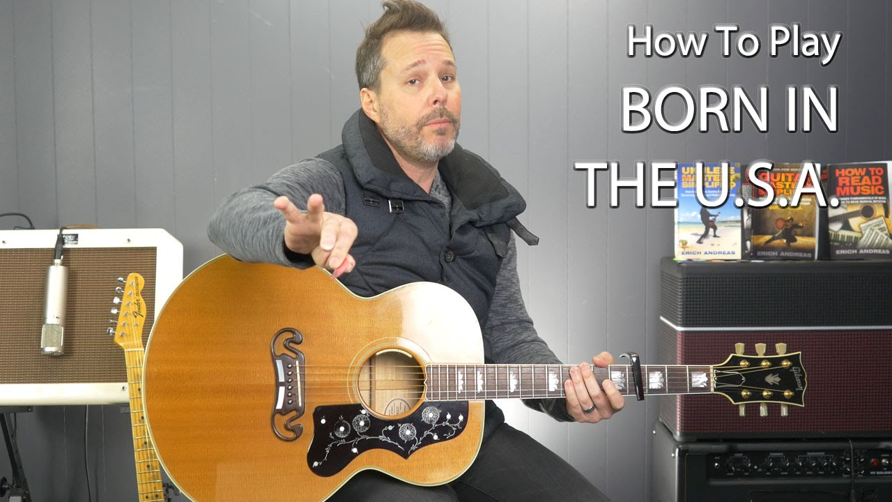 How To Play Born In The Usa By Bruce Springsteen Two Chord