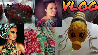 VLOG/ DIY #ягоды #компот #десерт 🍨😉 #платье НА СВАДЬБУ #пчела ИЗ БУТЫЛКИ