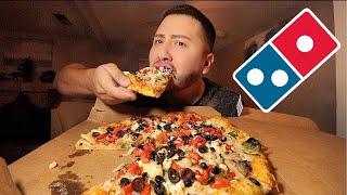 DOMINOS PIZZA MUKBANG   I'm Going Vegan