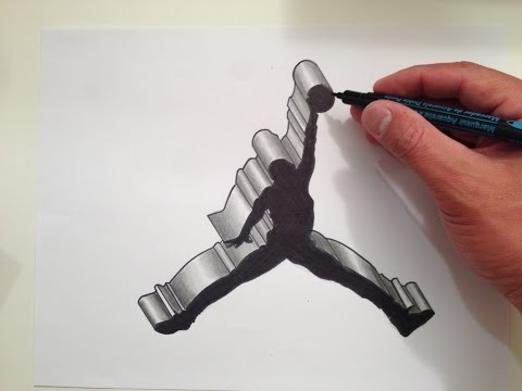How to Draw the Air Jordan Logo in 3D
